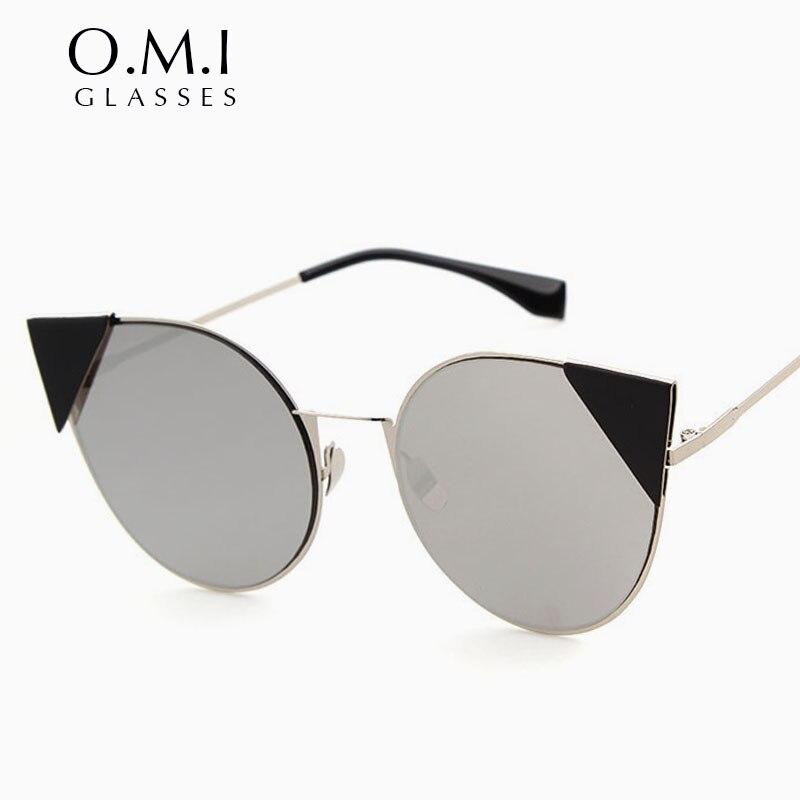 WHO CUTIE Brand 2017 Superstars Cat Eye Sunglasses Women Cateye Retro Coating Mirror Sun glasses for Ladies Brand Designer OM151<br><br>Aliexpress