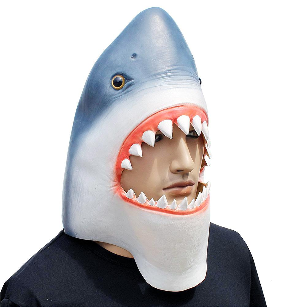 Adult Funny Man Eating Shark Fancy Dress Costume Halloween Stag Outfit Jaws