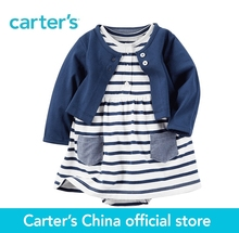 Carter's 2pcs baby children kids 2-Piece Bodysuit Dress & Cardigan Set 121H126,sold by Carter's China official store(China)