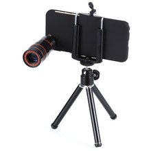 8X Optical Zoom Camera Telephoto Lens Phone Telescope + Tripod +Case Holder cover for iphone 6 6s mobile phone