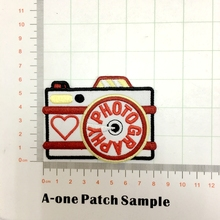 PHOTOGRAPHY CAMERA PROFESSION HOBBY Iron On Embroidered Patch FOR CLOTHING BAG