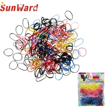 Hot 250-300Pcs/lot High Quality Acetate Rubber Hairband Rope kid Ponytail Holder Elastic Hair Tie Braids for girl hair accessory