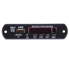 12V Car Music MP3 WMA Audio Decoder Board with remote control MP3 Player USB TF FM Radio car electronics