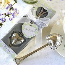 wedding favor heart  tea infuser in tea time gift box bridal shower party favor gifts valentine birthday presents free shipping