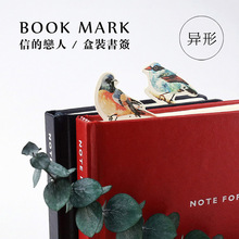 30 pcs/lot Cute Kawaii Paper Book Marks Lovely Birds Bookmarks For Books Kids Gift School Materials Free Shipping 2913