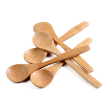 Wholesale 20pcs/pack 5.1inch Wooden spoon Ecofriendly Japan Tableware Bamboo Scoop Coffee Honey Tea Spoon Stirrer Free Shipping(China)