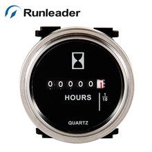 Runleader Round snap in DC 6-80V Hour Meter for zero turn riding mowers gear drive walk behind mower ride on blower(China)