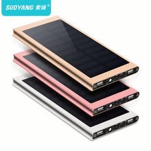 20000mah solar Power Bank External Battery quick charge Dual USB Powerbank Portable phone Charger for iPhone X Xiaomi 18650(China)