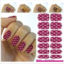 Fashion Nail Foil Lovely Rhinestone Design Water Transfer Nail Art Stickers Decals Manicure Decoration Purple Plaid Nail Tools