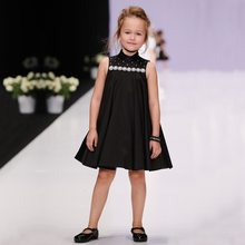 Sun Moon Kids Dresses Girls Princess Dress Sleeveless White Black Baby Girls Formal Evening Dress 2017 Summer Children Clothes