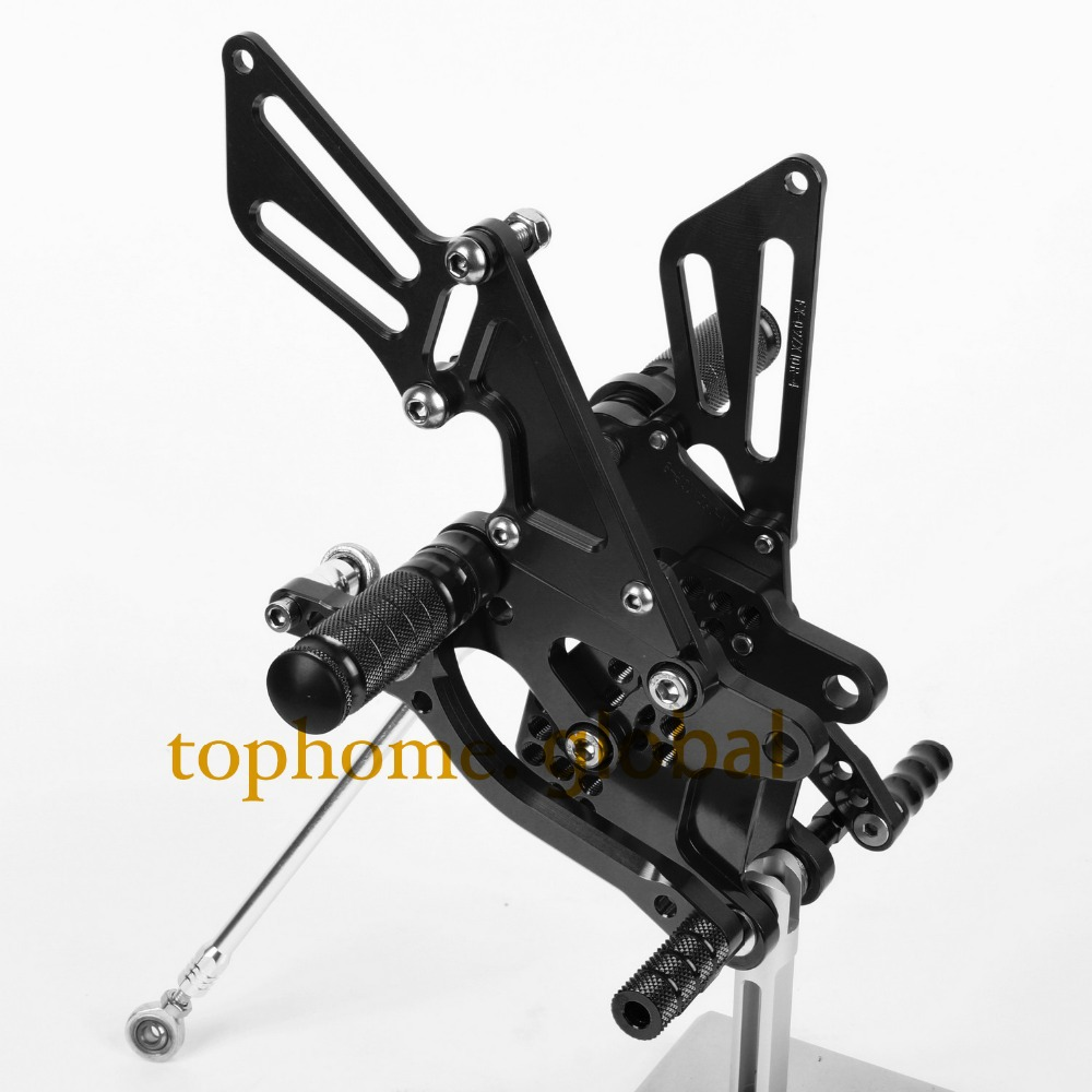Motorcycle Parts Black CNC Rearsets Foot Pegs Rear Set For KAWASAKI ZX10R 2008-2009 2010<br><br>Aliexpress