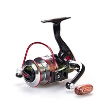Free Shipping 10+1 BB Spinning Fishing Reel Metal Spool MH 1000-7000 Reels YOMORES Black Red(China)