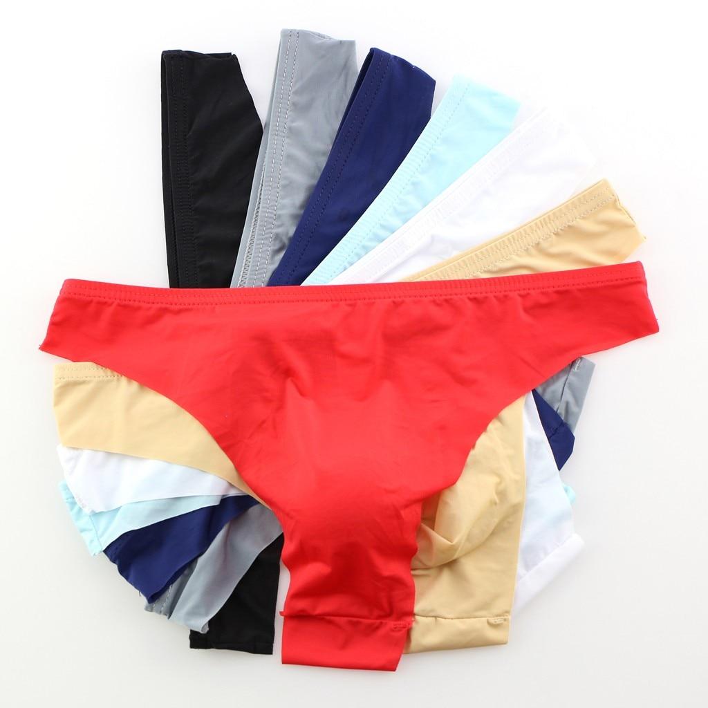 Men Seamless Underwear Men G-String Bulge Pouch Thongs Quick Drying Swim Briefs