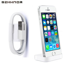 SZHXNOR Charger Dock Desk Charger Sync Stand for iPhone 7 8 plus 6 6s X 5 5s SE + 8pin USB charging cable For iphone X 8(China)