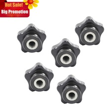 5pcs M8 x 40mm Female Thread Star Knob Handles M8 Thread 40mm Head Diameter Star Sharped Clamping Knobs