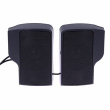 Mini Portable Clipon USB Stereo Speakers Line Controller Soundbar With Clip For PC Laptop Notebook For Phone Mp3 Music Player