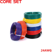 10 Meters UL 1007 Wire 24AWG 1.4mm PVC Wire Electronic Cable UL Certification Insulated LED Cable For DIY Connect 8 Color(China)