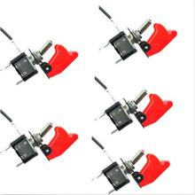 5pcs 12V 24V Red Cover LED Light Rocker Toggle Switch SPST ON/OFF Car Truck Car styling