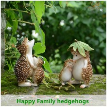 Everyday Collection Resin family hedgehog fairy garden decorations & home decoration accessories & party decoration(China)