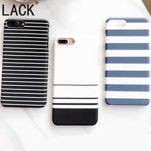 LACK 2017 Newest black and white Stripes Phone Cases For iPhone 7 Fashion zebra stripes Back Cover For iphone 7 6 6S Plus 5 5S(China)