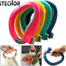 iTECHOR Portable Carry Food Machine Handle Carry Bag Hanging Ring Home Shopping Helper Tools - Color Random(China)