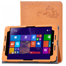 Fashion Print PU leather Protective Folding Folio Case for HP Pro Tablet 608 Z8500 7.9'' Cover Case(China)