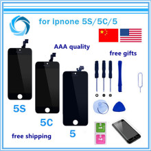 1PCS Mobile Phone LCD Display with Touch Screen Digitizer Assembly No Dead Pixel For iPhone 5 5c 5S 4 4S LCD