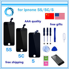 1PCS Mobile Phone LCD Display with Touch Screen Digitizer Assembly No Dead Pixel For iPhone 5 5c 5S 4 4S LCD(China)