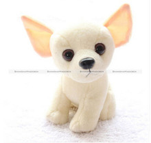 "1Pc 18CM 7"" Cute Lovely Small Chihuahua Dog Soft Plush Stuffed Doll Toy Gift KTK"