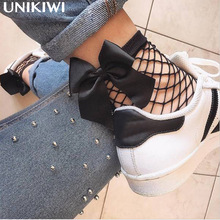 10 Colors.Chic Streetwear Women's Breathable Bow Fishnet Socks.Sexy Hollow out Flower Mesh Nets Socks Ladies Girl's Bow knot Sox