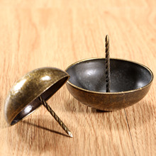 1Pc Antique Bronze Upholstery Nail Decorative Upholstery Tacks Stud Wooden Box Furniture Decorative Nails Pushpin Doornail 5CM(China)