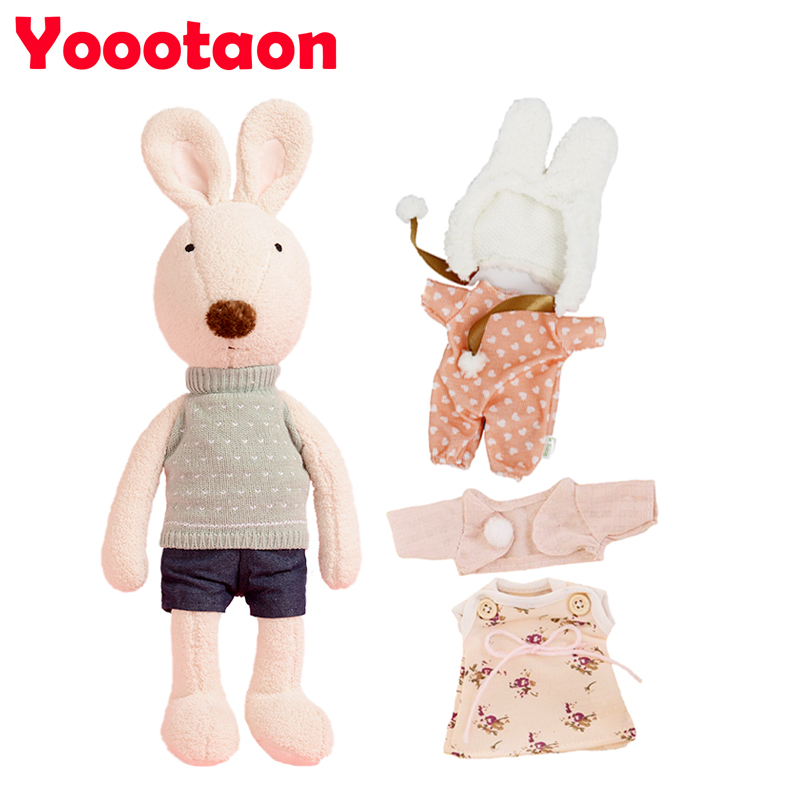 Kawaii 60cm Le sucre bunny rabbit plush dolls,1 rabbit + 3 sets of clothes, for children kids girls stuffed toys gifts big <br><br>Aliexpress