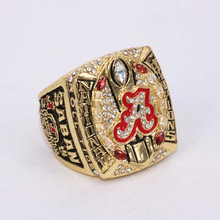 US Size 6 To 15! 2017 Hot Crazy NCAA 2015 Alabama Crimson Tide Football National Championship Ring Replica SABAN Drop Shipping(China)