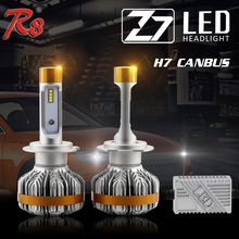 R8 Premium Quality Z7 Automobile 50W 6000LM 6500K H7 H8 H11 9005 9006 LED Headlight Kit 6500K Bulbs CANBUS Easy Installation(China)