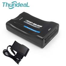 Full HD 1080P SCART to HDMI Scaler Box Video Converter Scaler to MHL Adapter Support Sky Box STB NTSC PAL SECAM Charging Retail