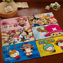 Mats Anti Slip Floor Mat One Piece Luffy Ace Zoro Printed Pattern Carpet Rug for Bathroom Door Living Room