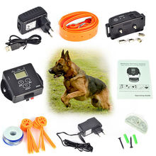 Pet Fence Waterproof Rechargeable Electronic Wireless Pet Dog Fence Containment System Dog Training Trainer Collar