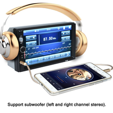 2 DIN 7 inch Bluetooth Car FM/USB/SD/MP3/MP4/MP5 Player, Car Stereo Radio Receiver Aux with USB SD Support Rear View Camera