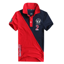 Made In China High Quality Martina Two Horse Brand Men Short Sleeve 100%Cotton Polos For Male Fashion Casual Style Polo Shirts