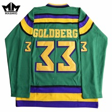 MM MASMIG Mighty Ducks #33 Greg Goldberg Movie Hockey Jersey Green For Free Shipping S M L XL XXL XXXL(China)