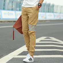 Khaki Joggers New Arrival: Fashion Casual Slim Mens Khaki Pants Chinos Sports Track Jogging Pants Men Joggers Cotton Sweat Pants