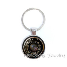 Steampunk Camera Keychain Vintage Key Accessories DIY Glass Photo Camera Lens Car Key Chain For Women Men Gift(China)