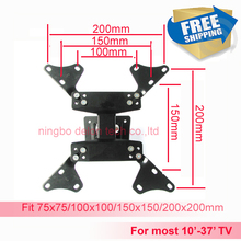 LCD-7Z 10 inch 24in 27 inch32in 37inch tiltable swivel LCD wall bracket mount stand tv holder(China)