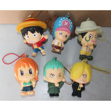 ONE PIECE Figure Kawaii Anime Squishy Phone Straps Toys Kids Squeeze Toy Cell Phone Pendant Keychain Bag Hanging Accessories P15