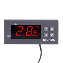 Buy STC-1000 110V 220V 12V 24V 10A Two Relay Output LED Digital Temperature Controller Thermostat Incubator 1M Sensor Heater for $9.88 in AliExpress store