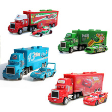 2pcs/set cartoon model Truck car Toys for children Mack 1:55 Diecast Metal Loose Toy Car Set gift for kids friends present king