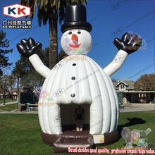 New Moonwalk Inflatable Snowman Jumper, Christmas Inflatable Snowman Bounce House for Sale(China)