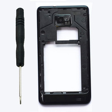 For Samsung Galaxy S2 SII GT-I9100 i9100 Original Black/white Color Back Rear frame Housing Middle Cover + Tool