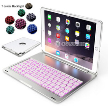 Wireless Bluetooth Keyboard For iPad Pro 10.5 New 2017 A1701 A1709 7 Colors Backlit Light  Aluminum shell+ABS keyboard+film+pen
