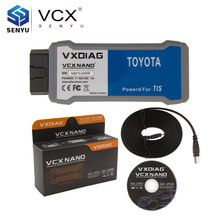 Original AllScanner VXDIAG VCX NANO for TOYOTA V11.00.017 TIS Techstream Diagnostic Tool with SAE J2534 VCX NANO Multi-languages